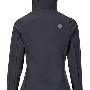 Soft shell hooded Marmot jacket